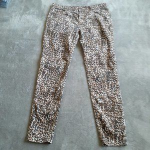 Forever 21 Cheetah Print Jeans Size31